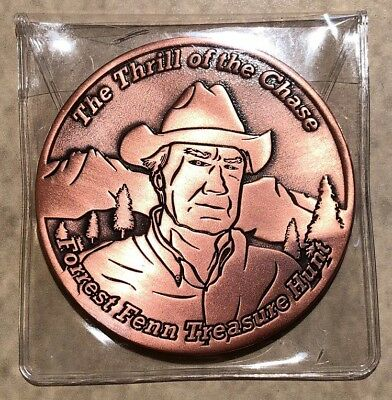 The Thrill of the Chase Forrest Fenn Bronze Searcher Coin #46 (Rare Low Number)