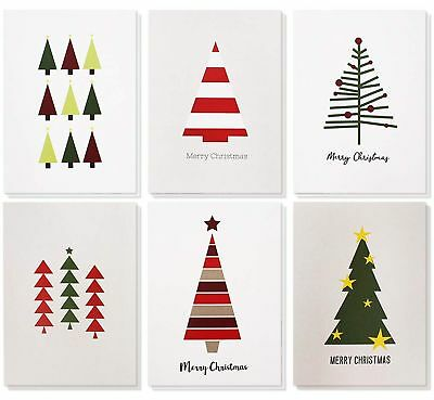 48-Pack Merry Christmas Greeting Cards Holiday Seasons Greeting Cards Modern Art