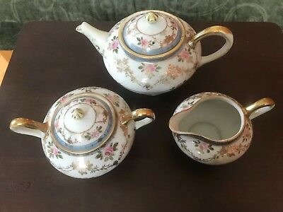 Vintage Porcelain Tea Set, Handpainted-Japan, 15 Pieces, excellent condition