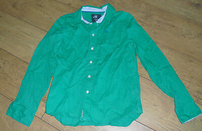 Boys Long Sleeved Green Shirt Age 12 - 13 Years
