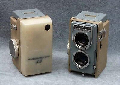 """2X Vintage Ricoh Ricohmatic 44 4X4 127 Roll Film Tlr Cameras, One """"ep"""" For Parts"""