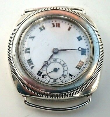 Very rare inter war full hermetic silver trench/wrist watch..Gruen/Finger/Vertex