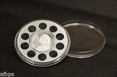 2014 Cook Islands Anders Celsius 1 oz. Silver Proof Coin w. Built-in Thermometer