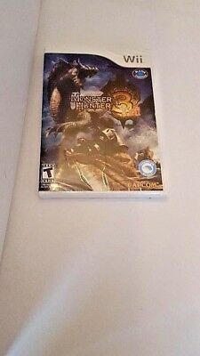 NEW NINTENDO Wii VIDEO GAME  MONSTER HUNTER 3 TRI