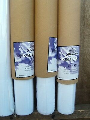"""Artists Canvas 3 Rolls 32"""" x 4m double primed 380gsm  Dont miss at this price !"""