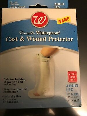 "Walgreens Adult Leg Reusable Waterproof Cast & Wound Protector 32"" Latex Free"