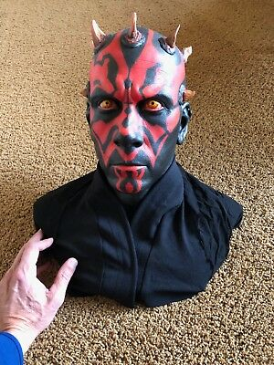 Darth Maul Bust 1:1 Life Size - Painted - Star Wars - Not Recast - foam filled