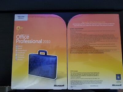 Microsoft Office Professional 2010, Sealed Retail Box, Full, Word, Excel,Access
