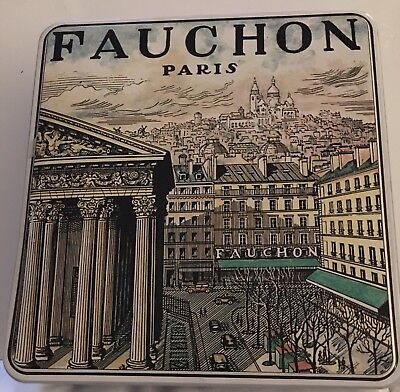 Paris Fauchon Tin Massilly France French Chocolate Gourmet Pastry