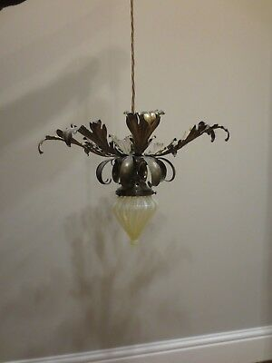 Quality Was Benson Type Electric Light Fitting Vaseline Shade Oil Lamp Interest