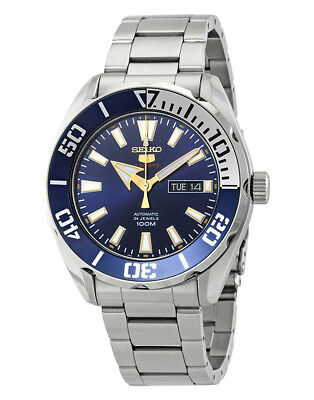 Seiko 5 Sports SRPC51 Men's Stainless Steel Blue Dial 100M Automatic Watch