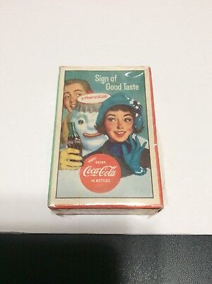 1959 Coca Cola Sign Of Good Taste Playing Cards Sealed