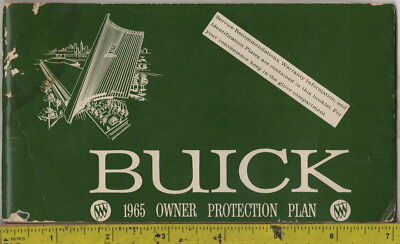 1965 Buick Owner Protection Plan booklet with metal Protect-O-Plate