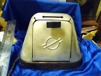 Vintage 1930's 40's Aluminum, WORKING Electric Toaster. Art Deco Style