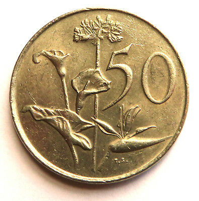South Africa 50 Cents 1977 Nickel KM#87