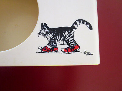 Vintage B Kliban Plastic Tissue Box Cats with Sneaker by Ames Royalware