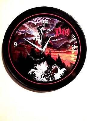 Dio - Holy Diver  -12 Inch Quartz Wall Clock / Rest In Peace Ronnie James Dio
