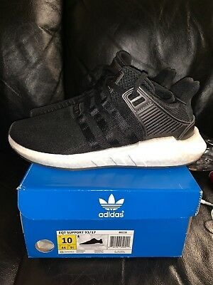 new styles 11e88 bc3a4 Adidas EQT SUPPORT 9317 BB1236 Core BlackWhite Milled Leather Mens Size  10