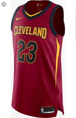 purchase cheap 7b118 ae42e NIKE LEBRON JAMES Cleveland Cavaliers Icon Edition Authentic Jersey Size 52  XL