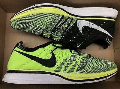 c5a483ac6be399 2012 Nike Flyknit Trainer+ Volt Black White Olympics 532984-700 Sz 8