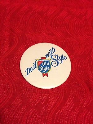 Vintage 1980's DO IT WITH STYLE   Old Style 3 inch Pin Back Button  Ships FREE