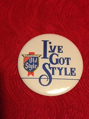 Vintage 1980 I've Got Style   OLD STYLE   Pin-Back Button  3 Inch  Ships FREE