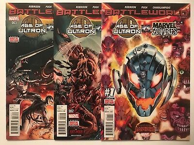 AGE OF ULTRON VS MARVEL ZOMBIES #1-3 (2015) Secret Wars, 1st Ptg NM
