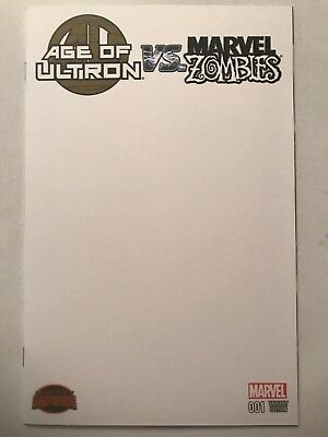 AGE OF ULTRON VS MARVEL ZOMBIES #1 Blank Variant (2015) Secret Wars, 1st Ptg NM
