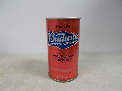 1979 Budwine Old Fashioned Cherry soda steel can.