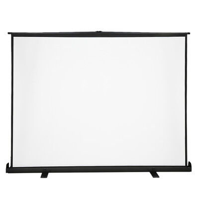 Portable HD Projector Screen 100inch Pull-up Projection w/Adjustable Holder K0I9