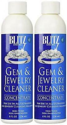 2 Pack Blitz Concentrated Jewelry Cleaning Solution For Ultrasonic