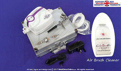 Karen's Air Brush Kit for Cake Makers and Decorators | Air Filter + Large Cup