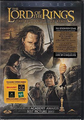 The Lord Of The Rings The Return Of The King Dvd Fullscreen - New - Region 1