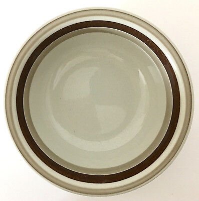 """1 Arabia Finland Pirtti 6"""" Cereal Bowl Beige Stoneware with Brown Bands MCM EUC"""