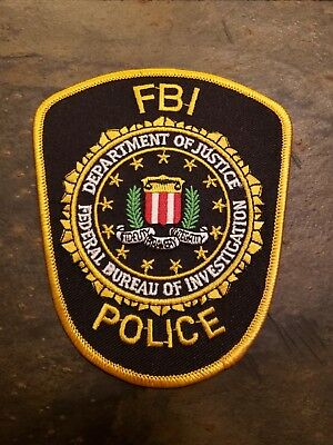 Fbi Department Of Justice Police Patch