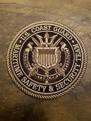 Us Coast Guard Maritime Safety And Security Team Police Patch