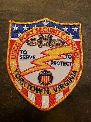 Us Coast Guard Port Security School Yorktown Virginia Police Patch