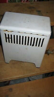 Vintage  White Porcelain Gas Heater, very nice