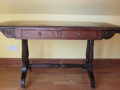 Regency Rosewood Sofa Table In Manner Of Gillows