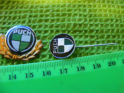 Lot of 2 PUCH  motorcycle very old lapel,hat pin badges.