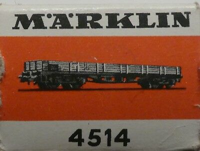 Marklin  4514 Flat Car In Box