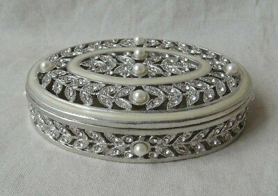Jewelry Box Pewter / Silver with pearls