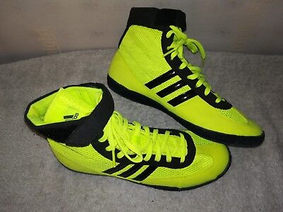 Designer Adidas Boxing Boots Hi Lite Yellow Size Uk 6..excellent Cond Rrp £50