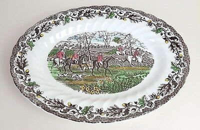 Vintage Myott Staffordshire Ware Steak Serving Plate Oval Country Life
