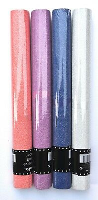 Self Adhesive Roll Glitter Coloured Arts & Craft Paper Blue Pink Silver Sheets