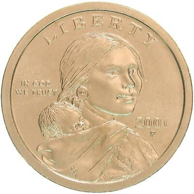 2001 P Native American Sacagawea BU Dollar US Mint Coin