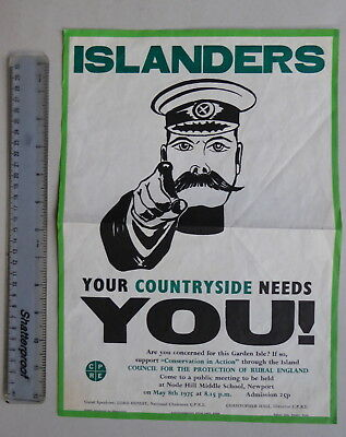 Isle of Wight ISLANDERS Your Countryside Need YOU! 1975 poster