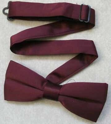 Bow Tie MENS Dickie Bowtie Adjustable VINTAGE RETRO BURGUNDY