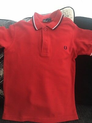 boys fred perry polo shirt Age 7-8