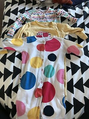 3 x Next Girls Babygrow's 9-12 Months